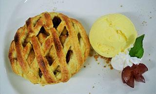 Apple Pie with Vanilla Ice Cream